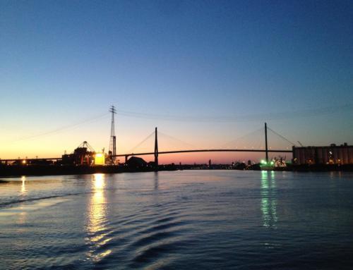 Die Hamburger Köhlbrandbrücke